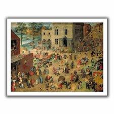 'Childrens Games' by Pieter Bruegel Canvas Poster
