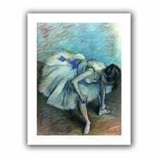 'Seated Dancer' by Edgar Degas Canvas Poster