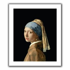 'Girl with a Pearl Earring' by Johannes Vermeer Canvas Poster