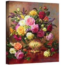 'Roses from a Victorian Garden II' by Albert Williams Painting Print on Canvas