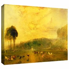 'Sunset, Fighting Bucks' by William Turner Gallery-Wrapped on Canvas