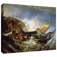 'Wreck of a Transport Ship' by William Turner Gallery Wrapped on Canvas