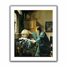 'The Astronomer' by Johannes Vermeer Canvas Poster