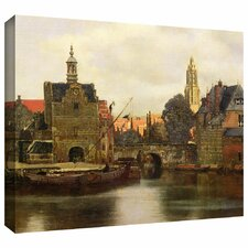 'View of Delft II' by Johannes Vermeer Gallery Wrapped on Canvas