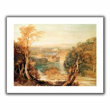 'The River Wharfe with a Distant View of Barden Tower' by William Turner Canvas Poster