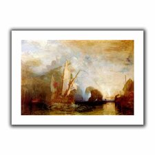 'Ulysses Deriding Polyphemus' by William Turner Canvas Poster