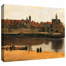 'View of Delft' by Johannes Vermeer Gallery Wrapped on Canvas