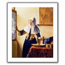 'Young Woman with a Water Jug' by Johannes Vermeer Canvas Poster