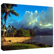 'Golden Light on Hanalei' by Kathy Yates Gallery Wrapped on Canvas