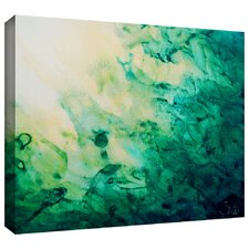 """Green Watery Abstract"" by Shiela Gosselin Painting Print on Wrapped Canvas"