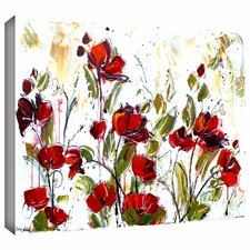'Floral' by Jolina Anthony Painting Print on Canvas