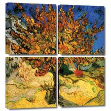 'Mulberry Tree' by Vincent Van Gogh 4 Piece Painting Print Gallery-Wrapped on Canvas Set