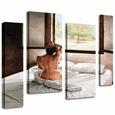 'September Morning' by John Worthington 4 Piece Painting Print Gallery-Wrapped on Canvas Set