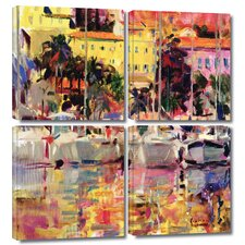 'Golden Harbour Vista' by Peter Graham 4 Piece Photographic Print Gallery-Wrapped on Canvas Set