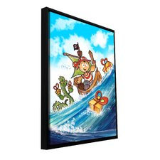 'Kid Pirate' by Luis Peres Framed Painting Print on Wrapped Canvas
