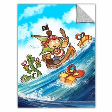 ArtApeelz 'Kid Pirate' by Luis Peres Graphic Art on Wrapped Canvas