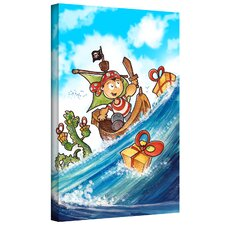 'Kid Pirate' by Luis Peres Graphic Art on Wrapped Canvas