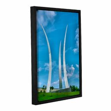 Air Force Memorial by Steve Ainsworth Floater Framed Photographic Print on Gallery Wrapped Canvas