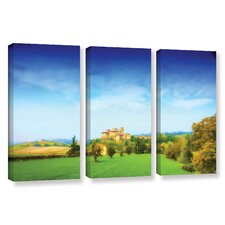 Italian Castle by Dragos Dumitrascu 3 Piece Wall Art on Wrapped Canvas Set