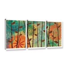 Veronique Charron Colorful Natural 3 Piece Graphic Art on Wrapped Canvas Set