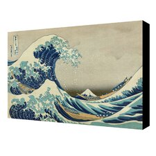 'The Great Wave off Kanagawa' by Katsushika Hokusai Painting Print on Wrapped Canvas