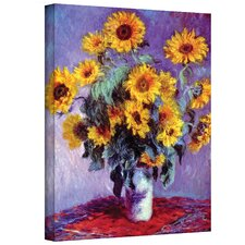 """Sunflowers"" by Claude Monet Canvas Painting Print"