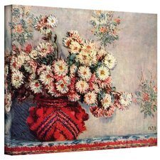 ''Red Vase'' by Claude Monet Painting Print on Canvas