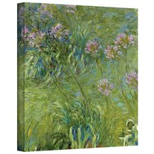 'Agapanthus 2' by Claude Monet Painting Print on Canvas
