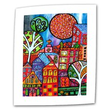 """Downtown"" by Debra Purcell Painting Print on Canvas"