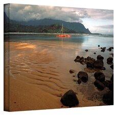 'Hanalei Bay at Dawn' by Kathy Yates Canvas Art