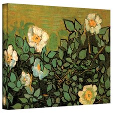 """""""Wild Roses"""" by Vincent Van Gogh Painting Print on Canvas"""