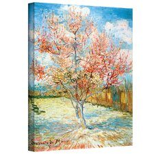 """Pink Peach Tree"" by Vincent Van Gogh Painting Print on Canvas"