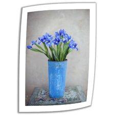 'Iris Flowers' by Elena Ray Mixed Media Print on Canvas