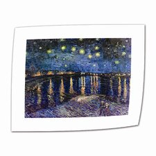 """Starry Night over the Rhone"" by Vincent van Gogh Painting Print on Canvas"