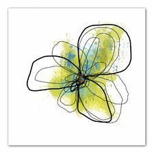 """Citron Petals II"" by Jan Weiss Graphic Print on Canvas"