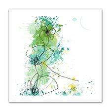 'Green Botanica' by Jan Weiss Graphic Art Canvas