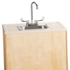 """Portable Sink 28"""" x 23.5"""" Single Wave Clean Hands Helper with Faucet"""