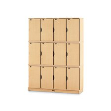 12-Sections Triple Stack Lockable Lockers