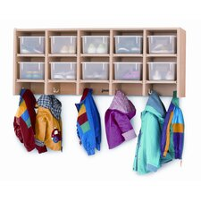 10-Section Wall Mount Coat Locker