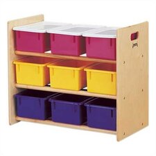 Tote Storage Rack 9 Compartment Cubby