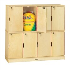 8-Sections Double Stack Lockable Lockers