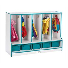 KYDZ Rainbow 1 Tier 5-Section Coat Locker