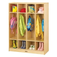 1 Tier 4-Sections Coat Locker