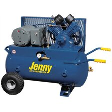 30 Gallon Tank 5 HP Electric 230 Volt Single Stage Wheeled Portable Air Compressor