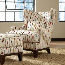 Richard Wingback Chair and Ottoman