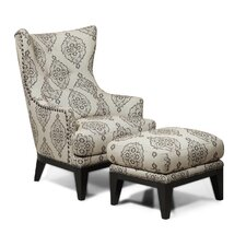 Kelsey Wingback Chair & Ottoman