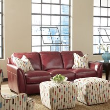 Midtown Chestnut Leather Sofa