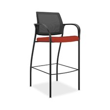 Ignition Mesh Back Cafe-Height Drafting Chair with Arms