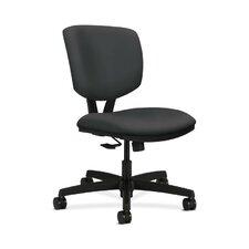 Volt Adjustable Mid Height Task Chair in Grade V Silvertex Vinyl