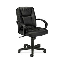 Basyx Mid-Back Leather Conference Chair